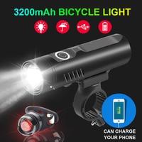 NEWBOLER 3200mAh Bike Front Light Set P90 L2 T6 USB Rechargeable Bicycle Headlight LED Flashight as Power Bank Bike Accessories|Bicycle Light| |  -