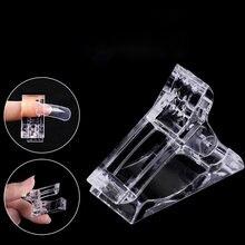 Dicas de unhas clipe para a construção rápida formas de unhas poli unha arte gel plástico extensão do dedo uv led builder grampos para diy manicure 7