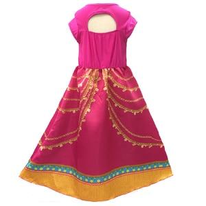 Image 4 - אלדין יסמין שמלת תלבושות ורוד פוקסיה בגד לילדים