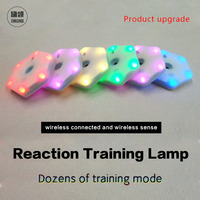 【queling】reaction training light lamp speed agility  response equipment basketball boxing fitlight blazepod siboasi 2.0
