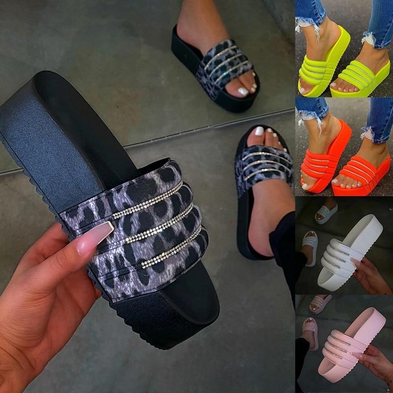 Women's  Flats Sandal Open Toe Summer Shoe Flat Sandals SlipperWomen Sexy Party Beach Female Footwear Thickened Slippers