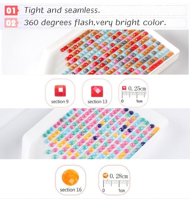 Huacan 5D DIY Diamond Painting Text Blackboard Full Square Round Diamonds Embroidery Kits Cartoon Decorations Home
