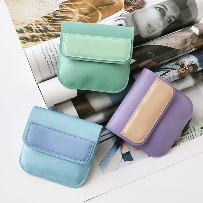 Women Mini PU Waterproof Coin Purse Children Wallet Card Package Cute Wallet Earphone Storage Bag Kids Purses and Handbags