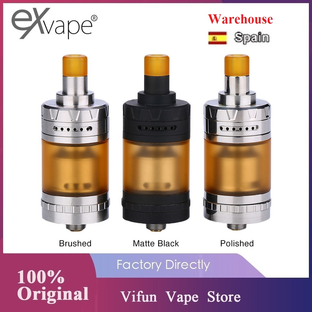 Original Exvape Expromizer V4 MTL RTA 2ml Tank 23mm Single Coil RTA Top-to-bottom Airflow Leakproof Ecig Vape Tank VS Zeus X RTA