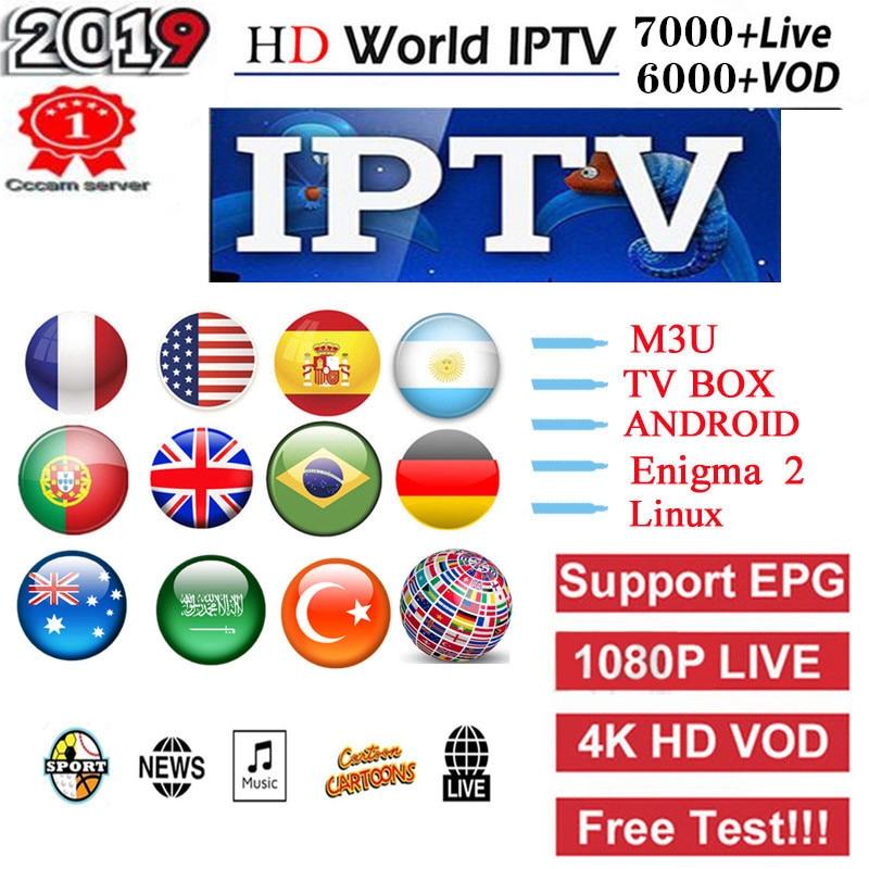 1 Year 7000+Live Europe IPTV French Dutch Spain Italy UK IPTV Subscription Arabic Iptv Android Free Sports Tv Box Ssmart Tv Pc