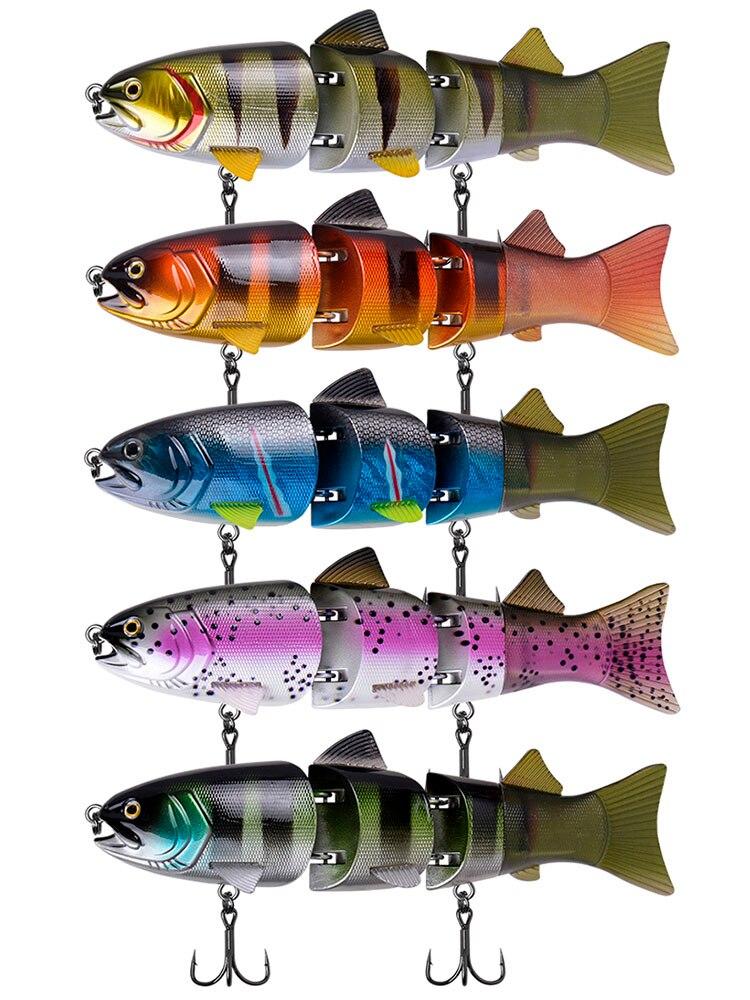 6 pack Zoom créature Appât Plastique Souple Fishing Lures Zoom Z-Craw 5 pouces