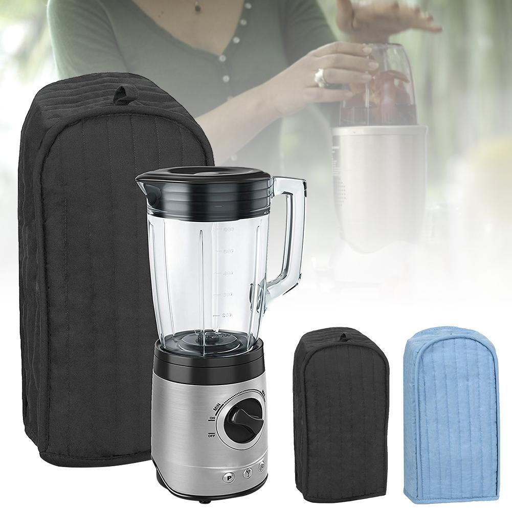Polyester Cotton Quilted Blender Appliance Cover Dust Fingerprint Protection Machine Washable Light Blue Black Blender Storage