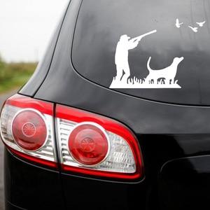 Image 5 - Neue Design Hunter Auto Aufkleber Jagd Abenteuer Aufkleber für Auto Körper Autos Kopf Motor Abdeckung Fenster Dekoration Wrap Vinyl Oem