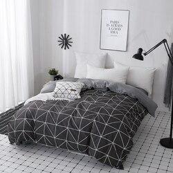 Casa têxtil triângulo geométrico moderno capa de edredão com zíper 1 peça poliéster algodão quilt cover consolador roupas de cama