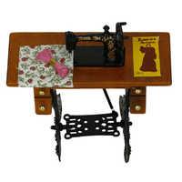 1 / 12 juegos de muebles en miniatura, sofá cama de pared, armario, casa de muñecas, decoración artesanal