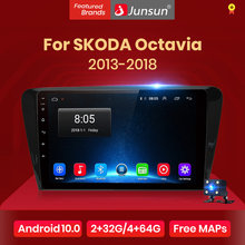 Junsun V1 2G + 32G Android 10.0 autoradio multimédia vidéo lecteur audio Navigation GPS pour SKODA Octavia 2013 2014 2015 2016 2018