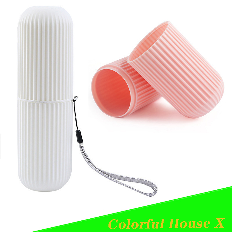 Travel Accessories Toothbrush Cup Multifunction Toothbrushing Cup Portable Dental Appliances Dustproof Box Travel Set Four Color