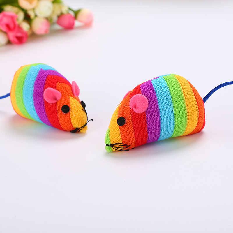 Zabawka mysz dla kota hurtownia kolor tęczy mysz zabawka dla kota zabawka dla zwierząt myszy i zabawki zwierzątka zabawka dla kota s interaktywna