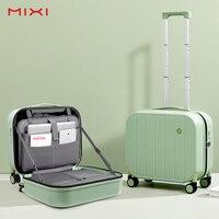 Mixi Patent Design Tragen Auf Koffer Kurze Reise Reise Gepäck Trolley Kabine 100% PC Material 16 18 Zoll