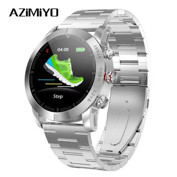 AZiMiYO Smart Watch 350mAh 1.3'' IP68 Waterproof Fitness Tracker Wearable Devices Monitor Detection Metal strap for Android iOS