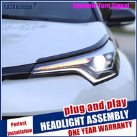Head lights Car Styling For Toyota C HR Headlights 2018 2020 Dynamic Turn Signal For CHR All LED Head lamp Led DRL