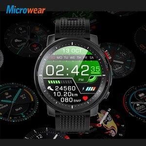"Image 5 - חדש Microwear L15 חכם שעון גברים IP68 עמיד למים smartWatch אק""ג PPG לחץ דם קצב לב ספורט כושר Smartwatch"