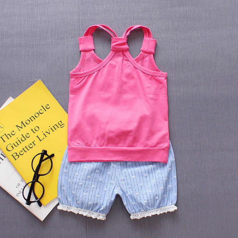 Baby mädchen kleidung sets sommer neugeborenen baumwolle mode weste + shorts 2 stücke trainingsanzüge für bebe mädchen kleinkind nettes geburtstag outfits