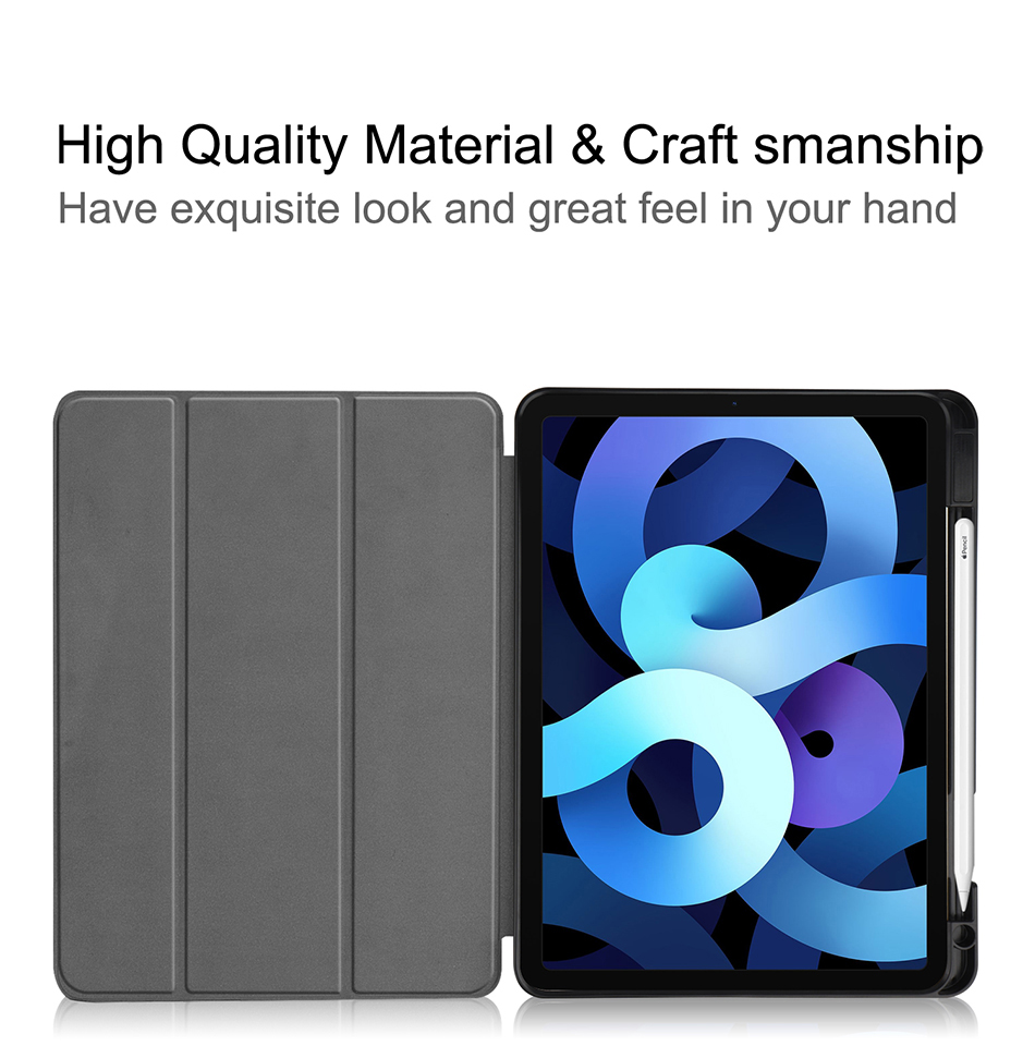 TPU+PU Air Case 10.9 inch Soft Stand For iPad Leather Flip Generation Tablet MTT 4th