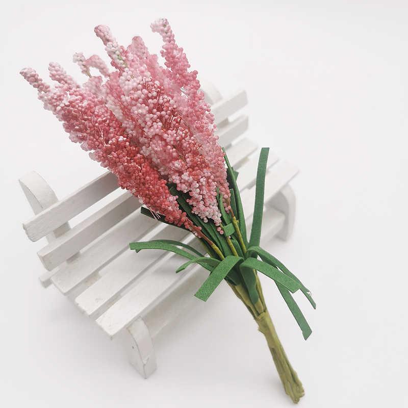 Mini Mới Miễn Phí Vận Chuyển 10 Chiếc DIY Vòng Hoa Chất Liệu Nhân Tạo Hoa PE Oải Hương Hoa Cưới Trang Trí Cô Dâu Cổ Tay Hoa