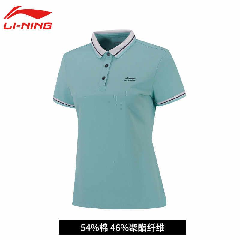 (Klaring) li-Ning Vrouwen Op Droog Badminton T-shirts Ademend Licht Overhemd Concurrentie Top Voering Sport Tee AAYN012 WTS1357