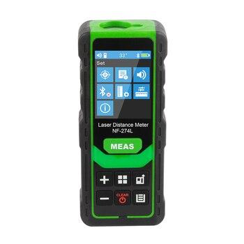 Noyafa NF-274L Green Laser Distance Meter 60M 80M 100M Rangefinder Laser Tape Range Finder Electronic Level Test Instrument 1