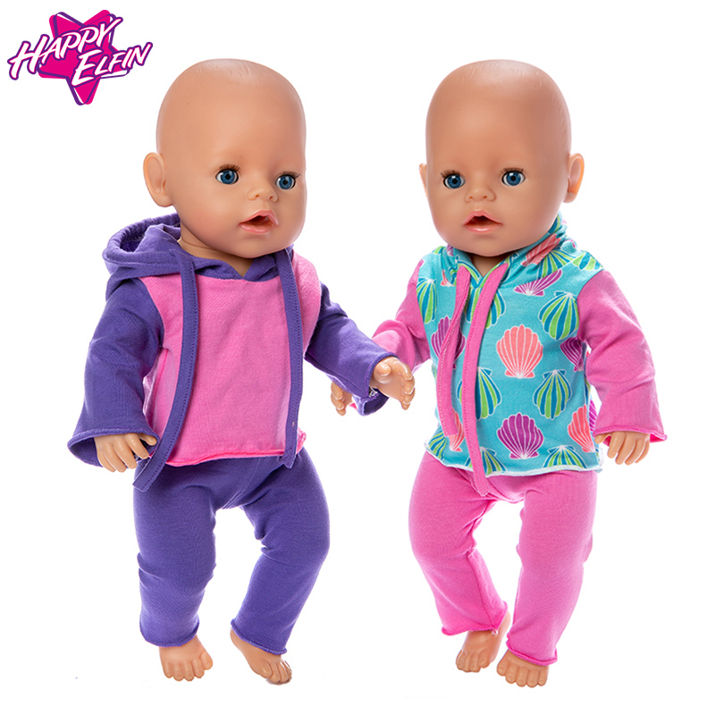 2019 New Dolls Suit Fit For 43cm New Born Doll 17inch Reborn Baby Doll Accessories