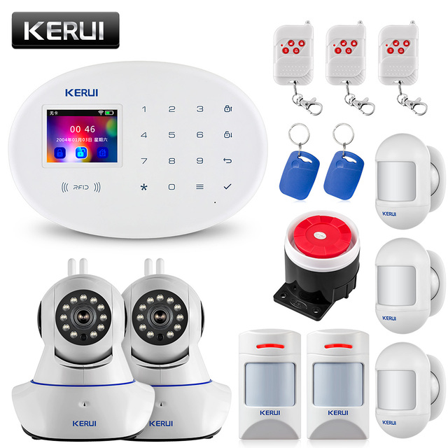 Kerui Wireless GSM Burglar Alarm System Is Compatible With Anti-pet Motion Detector 1