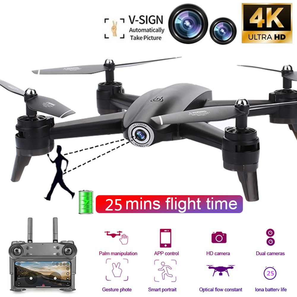 RC Drones 4K Dual Camera HD aerial photography Flight 25 Minutes FPV Drone Optical Flow positioning Follow Rc Helicopter toys image