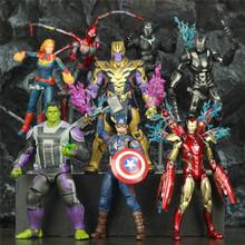 Marvel Avenger 4 Endgame kapitan ameryka Thanos film 6 ~ 8 figurka Mijolnir Steve Rogers Legends Spuer Hero lalki tanie tanio JAXTOY Model Żołnierz gotowy produkt Wyroby gotowe Unisex About 17cm ~ 20cm 1 12 Zapas rzeczy Film i telewizja