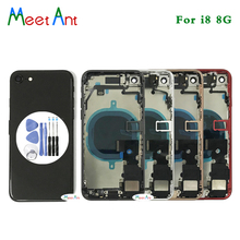 AAA quality For iphone 8 8G / 8 Plus / X Back Middle Frame Chassis Full Housing Assembly Battery Cover Door Rear with Flex Cable