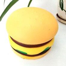 Стиль Симпатичные слюни кунжута Гамбург мягкие игрушки вспенивание Meng еда Экспрессия модель Squishy