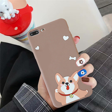 GYKZ Cute Cartoon Corgi Dog Phone Case For iPhone 7 XS MAX X XR 8 6 6s Plus Animal Pattern Soft Silicone Back Cover