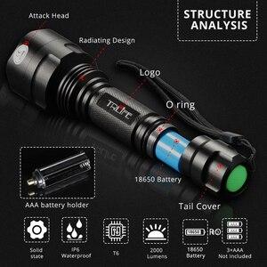 Image 5 - 4000LM C8 פנס LED טקטי פוקוס לפיד T6 L2 18650 אלומיניום ציד אור ארוך לזרוק סופר אורות 5 מצבי עבור רובה