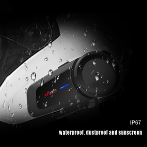 Image 5 - MAXTO M2 오토바이 헬멧 헤드셋 6 라이더 그룹 말하는 인터폰 블루투스 5.0 FM 라디오 모든 헤드폰 이어폰과 호환 가능