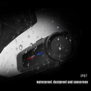 Image 5 - Maxto M2 Universal Motorrad für Volle/Halbe Gesicht Helm Headset 6 Fahrer Gruppe Reden Intercom Bluetooth 5,0 FM Radio kompatibel