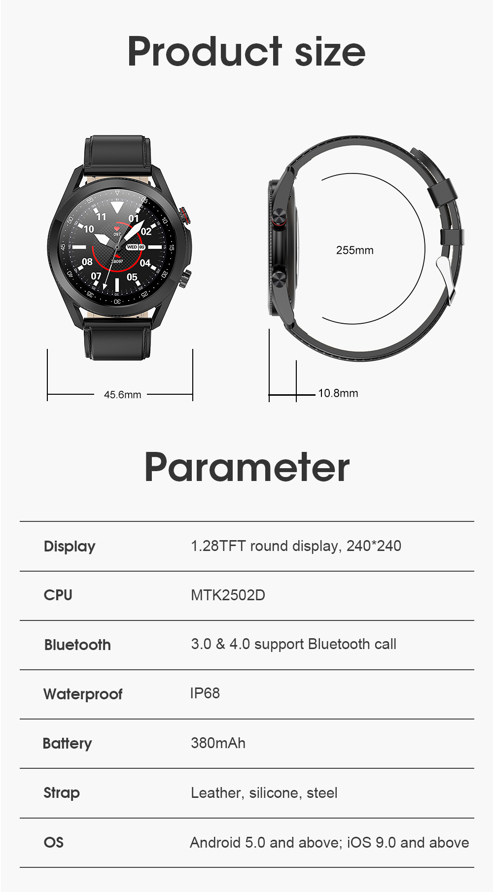 H3c9e01d9ec31473fa40708d05acd183aR Timewolf Smart Watch Men 2021 IP68 Waterproof Android Full Touch Sports Smartwatch Bluetooth Call For Samsung Huawei Android IOS