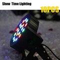 Шоу время 10 шт./лот 18 светодиодный сценический par-прожектор светодиодный rgb dmx 512 7CH мини par светодиодный светильник для клуба Dj шоу домашние ве...