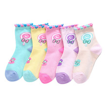 5Pairs/Lot  autumn and winter Children Sock Breathable Cotton Kid Socks For Boys Girls  Socks 1-11 Years Cartoon Baby Socks 6pairs lot mipp baby white kid socks spring soft cotton children for boys girls sport students socks hand sewn without bone