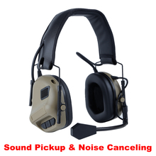 Protector Headset Earmuffs-Use PTT Shooting Hearing Military Tactical with Anti-Noise