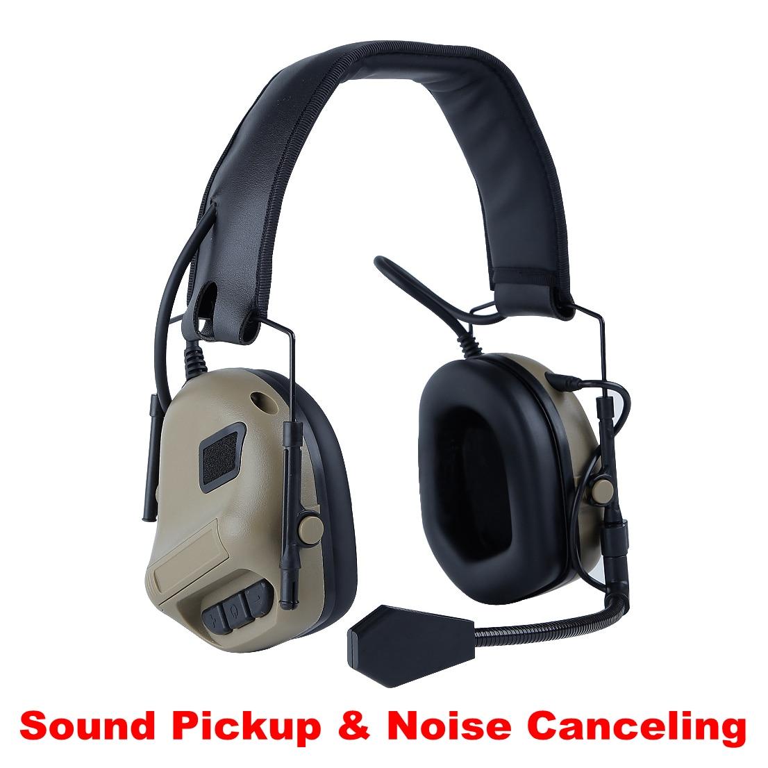 protetor auditivo earmuffs taticos uso com ptt anti ruido cancelamento de ruido fones de ouvido fone