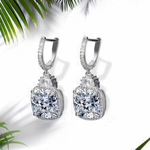 NJ Stunning Crystal Clip Earring For Woman Ladies Hanging Dangle Earrings Designed Women Wedding
