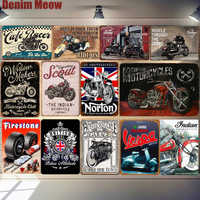 Biker Grandad Car Motorcycle Metal Poster Vespa Retro Plaque Wall Art Painting Plate Pub Bar Garage Decor Vintage Tin Sign MN125
