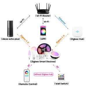 Image 2 - Gledopto الأبيض واللون E27 12 واط LED مصباح ذكي 2 Pack ، زيجبي متوافق 3.0 بوابة ، صوت المنشط مع اليكسا ، 6 منطقة عن بعد
