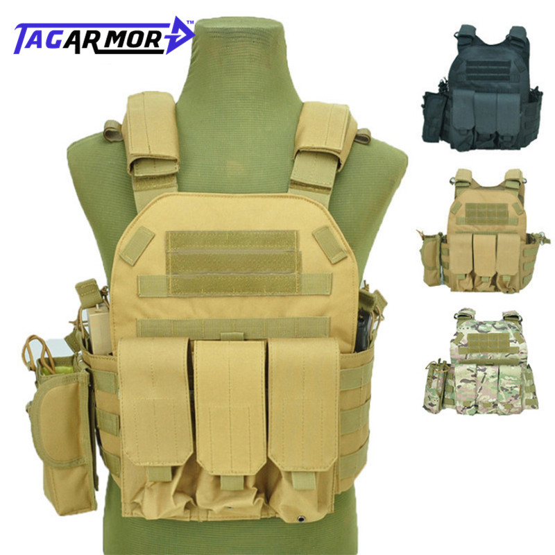 Tactical US Army 6094 NIJ Level IIIA Military Combat Bullet Proof Vest Police Security Molle Body Armor