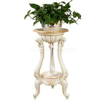 Indoor living room flower stand ground multi layer plastic flower pot shelf simple balcony floor hanging orchid stand European Plant Shelves     -