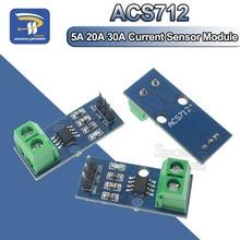 1PCS NEW 5A 20A 30A Hall Current Sensor Module ACS712 Model For Arduino AC DC Current Detection Board