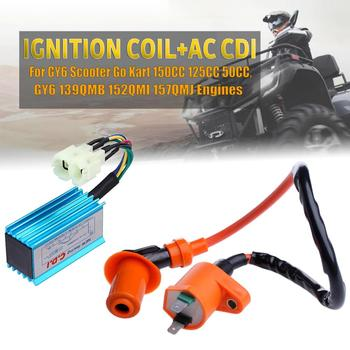 Racing Performance CDI Ignition Coil Spark Plug Fit Gy6 150cc 125cc 50cc WEQ Ignition spark plug 6Pin auto car spark ignition coil f01r00a024 for chery karry youyou yousheng viewsonic