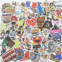 100Pcs Random No repetition mix Stickers Various Styles Stickers For Car Laptop Skateboard Pad Bicycle PS4 Phone DIY Car Decal a0023 superman logo dream anime kids recognition toy stickers for diy car laptop skateboard pad bicycle ps4 phone decal trunk