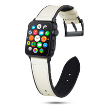 Leather Strap For Apple Watch band 44/40/42/38mm Replacement Bracelet fashion Watchband Accessories for Iwatch series 4/3/2/1 hoco new genuine leather 44 42 40 38mm watchband for apple watch 4 3 2 first layer cattle leather strap bracelet for iwatch